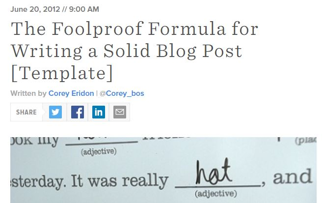 foolproof formula hubspot best blog writing templates by gerome soriano for growth bloggers